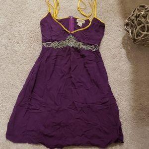 Purple and Yellow Valija Gitana Dress